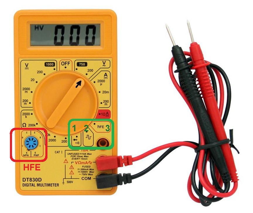 NE555 Voltmetro voltaggio UTILIZZARE TUTORIAL tensione suono resistenza prova portata MULTIMETRO misura hfe diodi Corrente continuità continua connessione COME batteria amperometro alternata