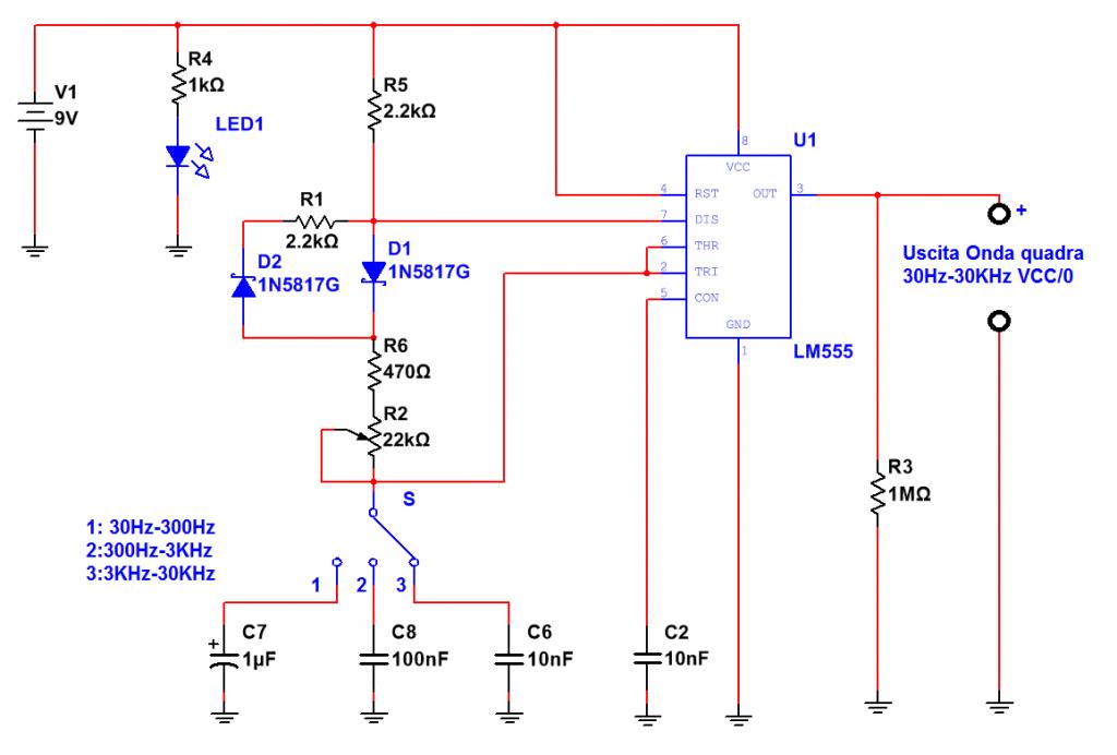 Schema Elettrico Racchetta Zanzare : Generatore di clock a frequenza variabile con ne