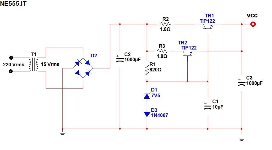 Schema Elettrico Dimmer Per Led : Dimmer led con stabilizzatore di tensione ne