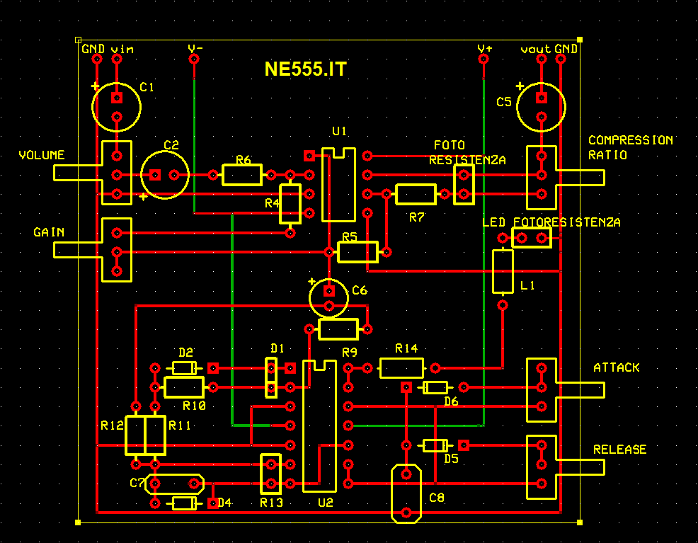 pcb compressore audio