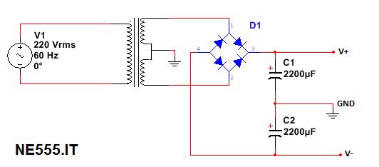 Trasformatore e reddrizzatore Alimentatore Duale Regolabile da 1.5V a 20V, 5A