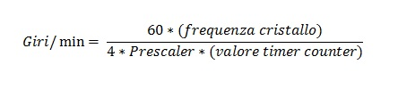 formula calcolo giri