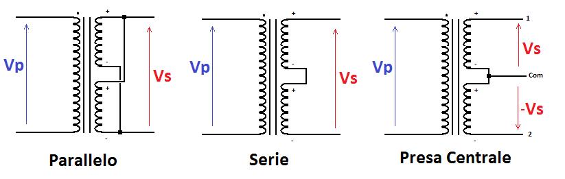 trasformatore-doppio-secondario-connessioni