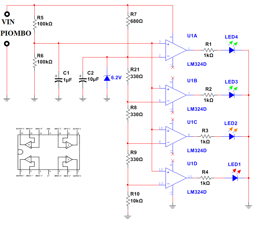 Indicatore carica batteria led ne555 for Costruire un temporizzatore 12v