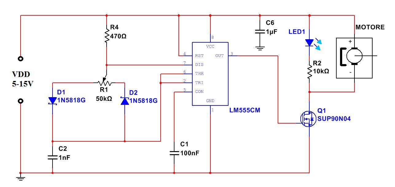 Schema Elettrico Regolatore Per Motori Brushless : Regolatore velocitÀ per motori dc ne