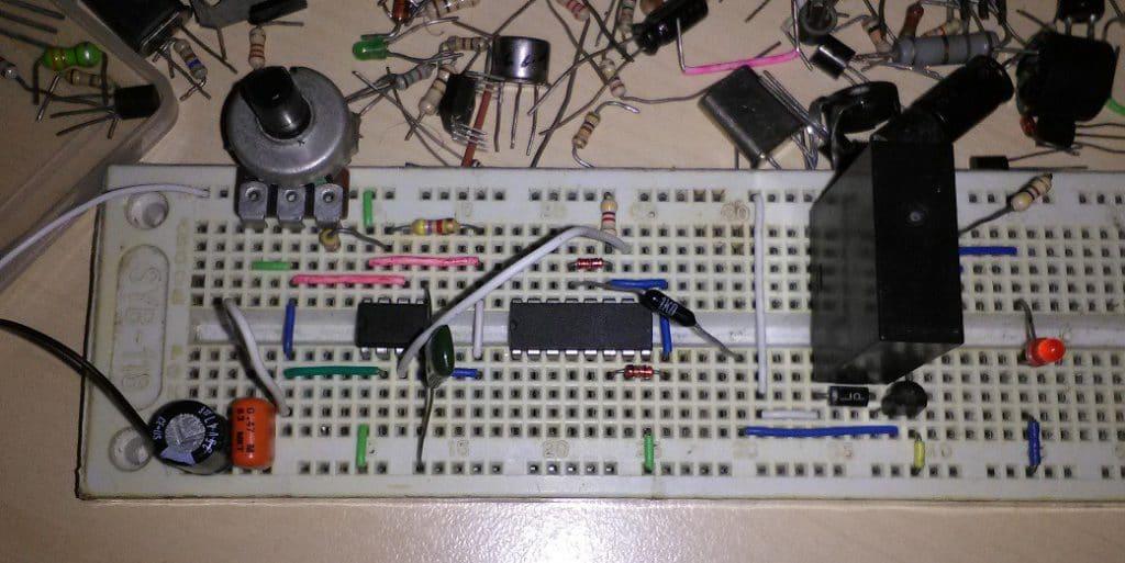 Schema Elettrico Per Temporizzatore : Temporizzatore con ne555 ne555